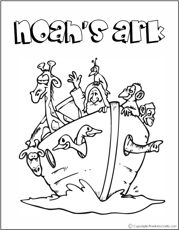 Noah Ark Coloring Page